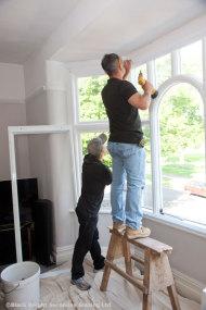 Use proprietary sealants when fixing secondary windows