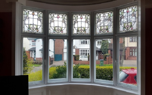 Secondary window security can be improved by using laminayed glass