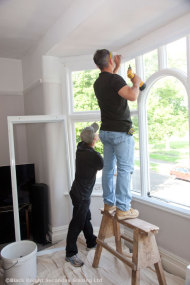 Use proprietary sealants when fixing secondary windows