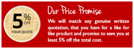 Secondary Glazing - Our Price Promise