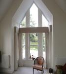Shaped secondary glazing